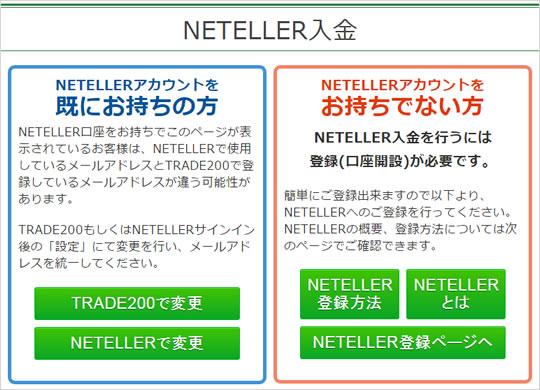 トレード200 NETELLER